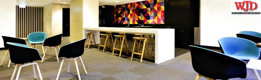 carpet tiles in business communal area