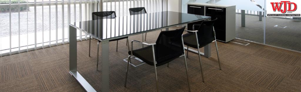 carpet tiles in business meeting room
